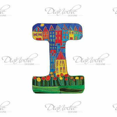DiaNoche Designs Artist | Dora Ficher - Alphabet Letter I