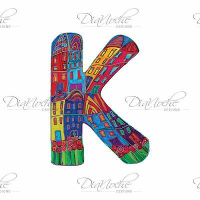 DiaNoche Designs Artist | Dora Ficher - Alphabet Letter K