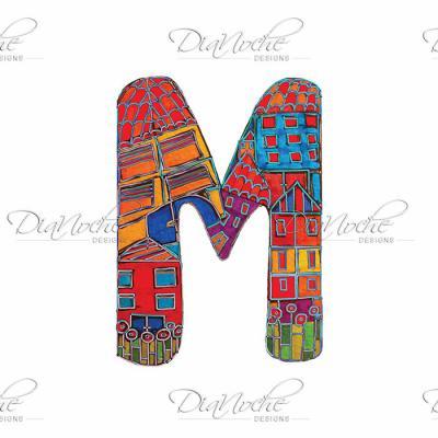 DiaNoche Designs Artist | Dora Ficher - Alphabet Letter M