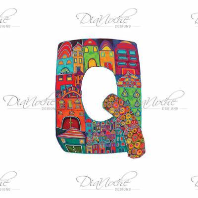 DiaNoche Designs Artist | Dora Ficher - Alphabet Letter Q