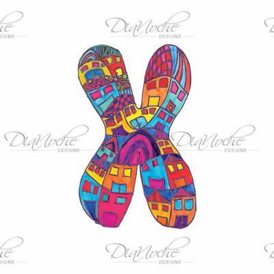 DiaNoche Designs Artist   Dora Ficher - Alphabet Letter X