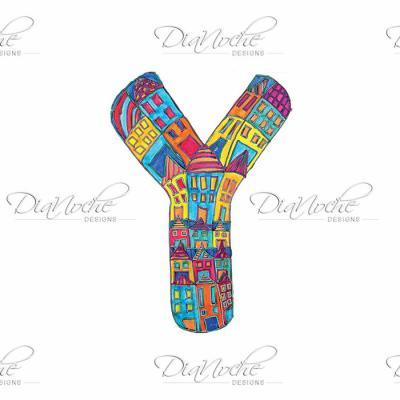 DiaNoche Designs Artist   Dora Ficher - Alphabet Letter Y