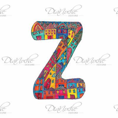 DiaNoche Designs Artist   Dora Ficher - Alphabet Letter Z