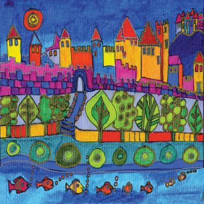 DiaNoche Designs Artist   Dora Ficher - Blue Mountain