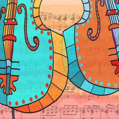 DiaNoche Designs Artist   Dora Ficher - Cellos Play