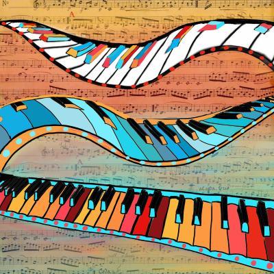 DiaNoche Designs Artist   Dora Ficher - Dancing Keys