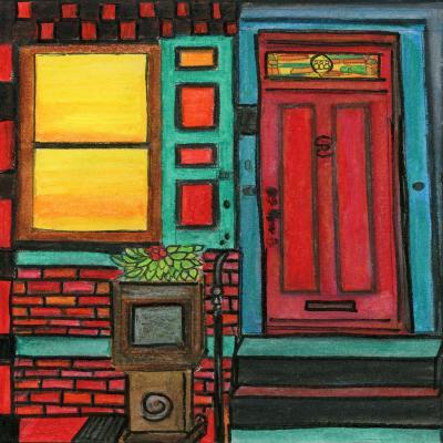 DiaNoche Designs Artist   Dora Ficher - Door 888