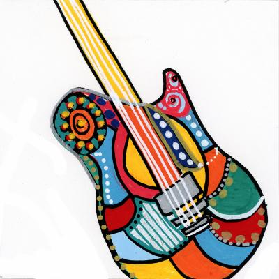 DiaNoche Designs Artist   Dora Ficher - Electric Guitar