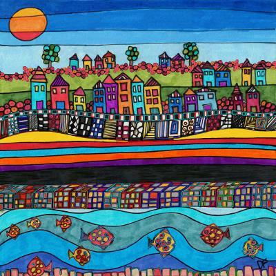 DiaNoche Designs Artist   Dora Ficher - Garden Poppies