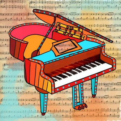 DiaNoche Designs Artist   Dora Ficher - Grand Piano