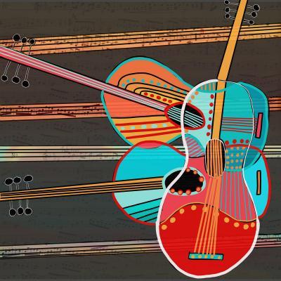 DiaNoche Designs Artist   Dora Ficher - Guitars Rock