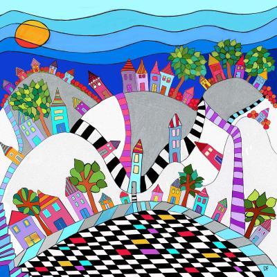 DiaNoche Designs Artist   Dora Ficher - Happy Hills I