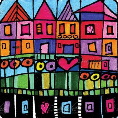 DiaNoche Designs Artist   Dora Ficher - Happy Town