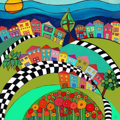DiaNoche Designs Artist   Dora Ficher - Hilltop