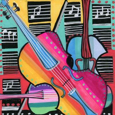 DiaNoche Designs Artist   Dora Ficher - The Three Violins