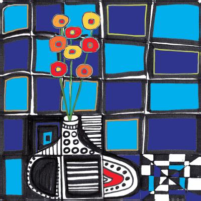 DiaNoche Designs Artist   Dora Ficher - The Vase