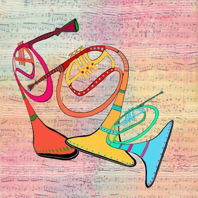 DiaNoche Designs Artist | Dora Ficher - Three Horns