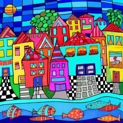 DiaNoche Designs Artist | Dora Ficher - Window Boxes