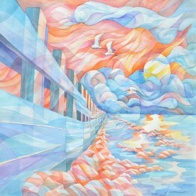 DiaNoche Designs Artist | Gerry Segismundo - Egrets Flight