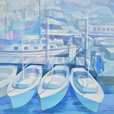 DiaNoche Designs Artist | Gerry Segismundo - Marina in Blue 1