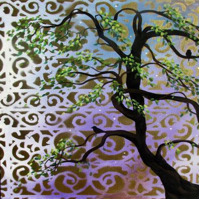 DiaNoche Designs Artist | Hillary Doggart-Greer - Willow and Moon I