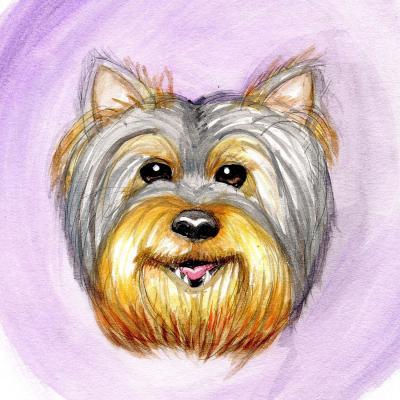 DiaNoche Designs Artist | Hillary Doggart-Greer - Yorkie Purple