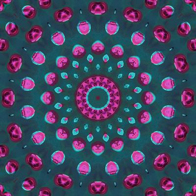 DiaNoche Designs Artist | Iris Lehnhardt - Magenta and Emerald Green