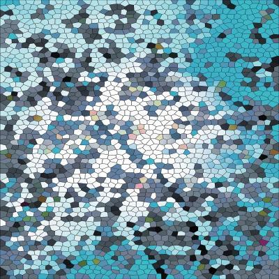 DiaNoche Designs Artist | Iris Lehnhardt - Mosaic Veil Blue
