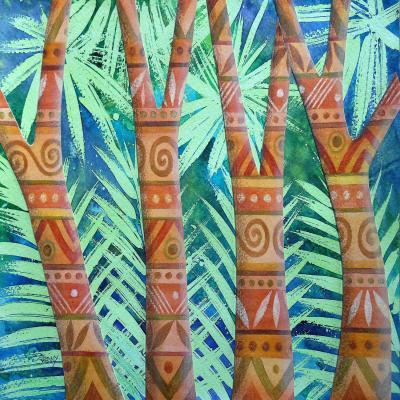 DiaNoche Designs Artist   Jennifer Baird - Amerindian Forest
