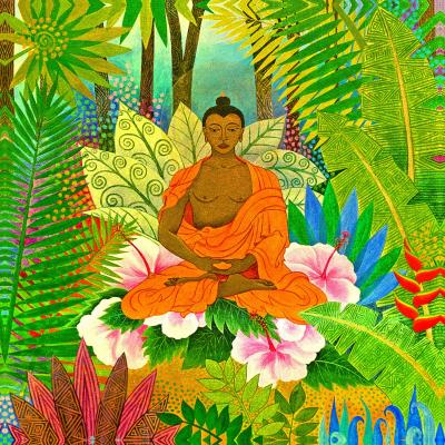 DiaNoche Designs Artist | Jennifer Baird - Buddha in the Jungle