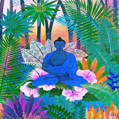DiaNoche Designs Artist | Jennifer Baird - Buddha In the Jungle ll
