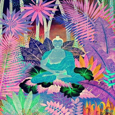 DiaNoche Designs Artist | Jennifer Baird - Buddha In the Jungle lll