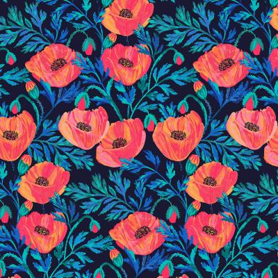 DiaNoche Designs Artist | Jill O Connor - Hand Painted Poppies