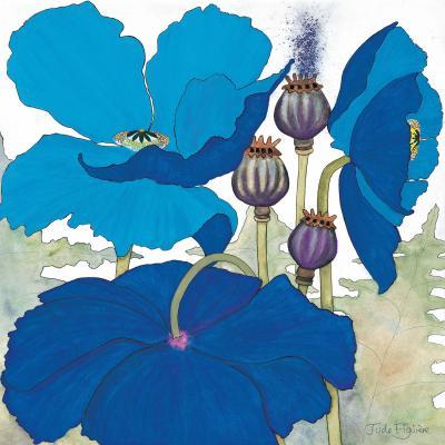 DiaNoche Designs Artist | Judith Figuiere - 3 Blue Poppies