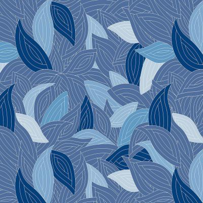 DiaNoche Designs Artist | Julia Grifol - Blue Leaves Navy