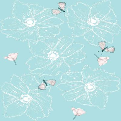 DiaNoche Designs Artist | Julie Ansbro - Anemone Butterfly Turquoise