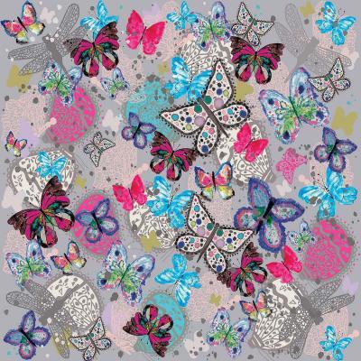 DiaNoche Designs Artist | Julie Ansbro - Butterflies Grey