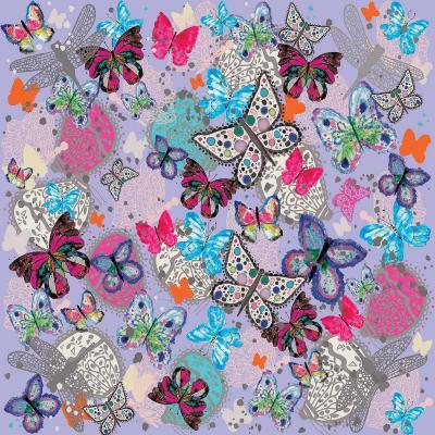 DiaNoche Designs Artist | Julie Ansbro - Butterflies Lilac