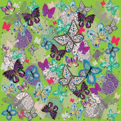 DiaNoche Designs Artist | Julie Ansbro - Butterflies Lime