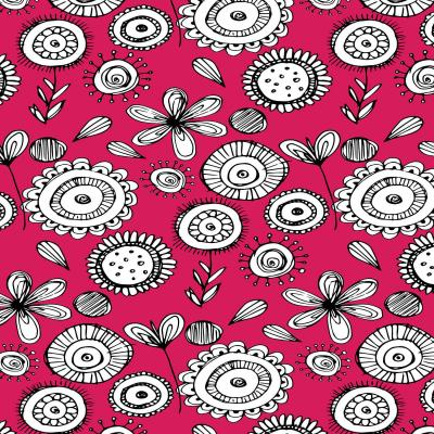 DiaNoche Designs Artist | Kim Hubball - Floral Doodle Pink 1