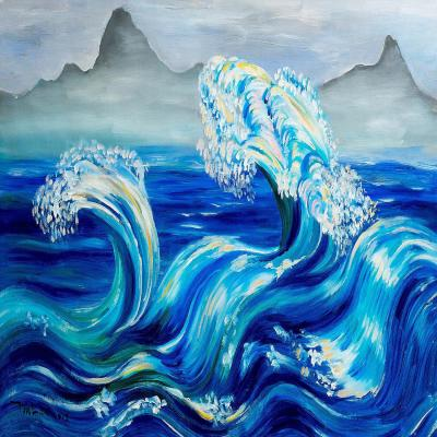 DiaNoche Designs Artist | Lam Fuk Tim - Blue Waves Mountains