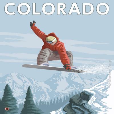 DiaNoche Designs Artist | Lantern Press - Colorado Snowboarder