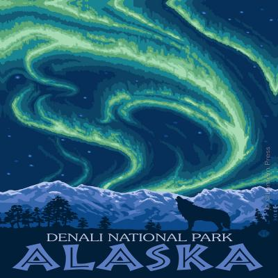 DiaNoche Designs Artist | Lantern Press - Denali National Park Alaska I