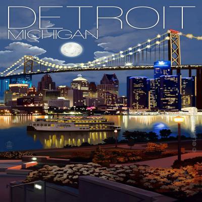 DiaNoche Designs Artist | Lantern Press - Detroit Michigan Skyline
