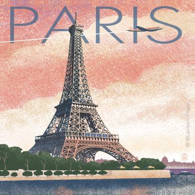 DiaNoche Designs Artist | Lantern Press - Eiffel Tower Paris