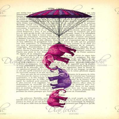 DiaNoche Designs Artist | Madame Memento - Elephants Parachute