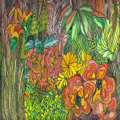 DiaNoche Designs Artist | Maeve Wright - Tropical Orange and Green