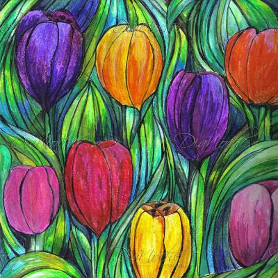 DiaNoche Designs Artist | Maeve Wright - Tulip Patch
