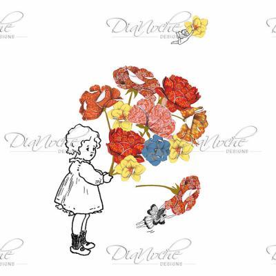 DiaNoche Designs Artist   Marci Cheary - Flower Picking