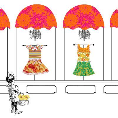 DiaNoche Designs Artist   Marci Cheary - Window Shopping